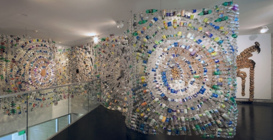 Bright Ugochukwu Eke Ripples and Storm installation view Environment and Object Recent African Art Tang Museum 2011